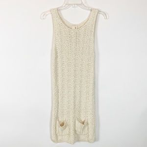 Far Away From Close Cream Sweater Dress Size Small